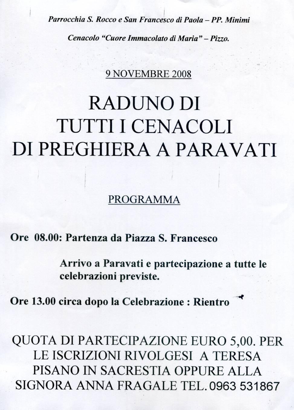 RADUNO GENERALE CANACOLI DI PREGHIERA