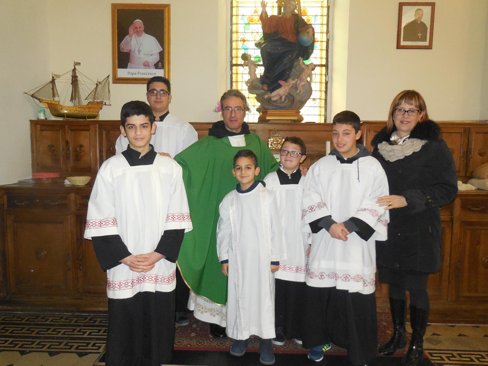 14/1/2018 Santa Messa animata dal Gruppo Ministranti