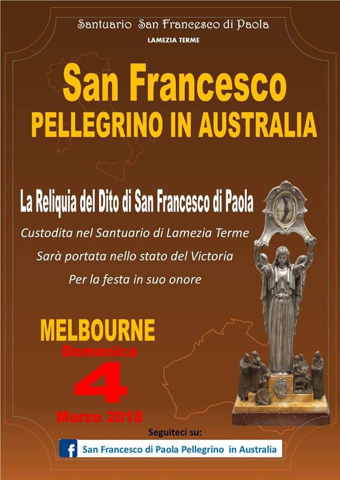 San Francesco di Paola Pellegrino in Australia