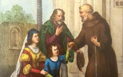 In attuazione di un voto materno, il giovinetto arriva al Convento di S. Marco Argentano per trascorrervi un anno vestendo l'abito del santo Patrono d'Assisi (Processo cosentino)