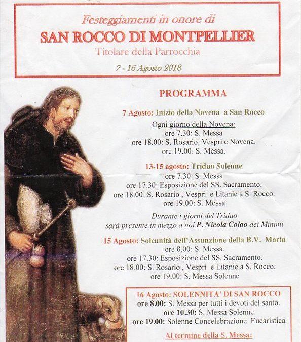 FESTA DI SAN ROCCO DEL 2018